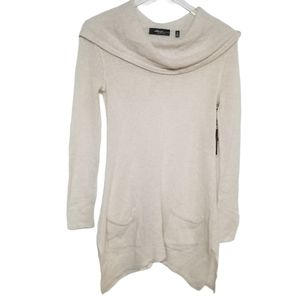 Saks Fifth Avenue Long Cashmere Hoodie Sweater S